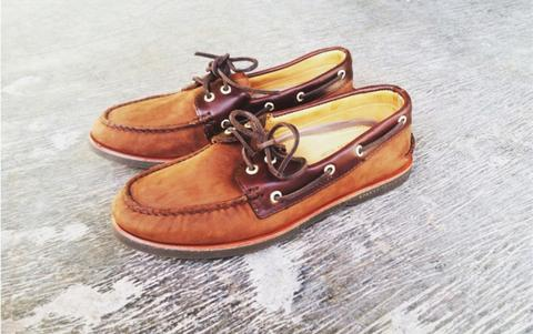 Sperry Topsider Goldcup Nubuck Brown Size 11 - RARE Abis