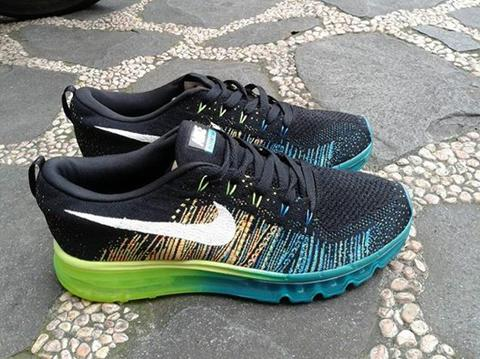 [HOT ITEM] Nike Flyknit Max Black Green Citrus LIMITED