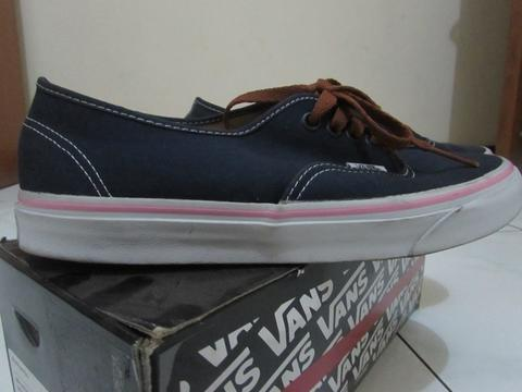 Vans Authentic Brushed Twill Dress Blues Murah 400 Ribuan Ori Size 8 GSI Surabaya