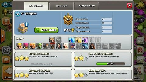 Id COC non ktp townhall lvl 8