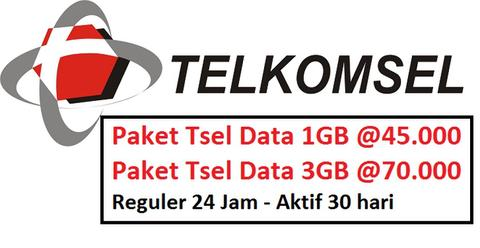 Promo Paket Internet Tsel Data (**Best Price**)