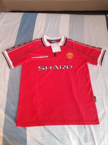 Jersey retro Manchester United home 1998 treble winner new (surabaya)