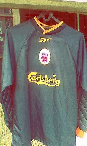 Jersey Original GK Classic Liverpool Season 1998-1999 Sz Youth
