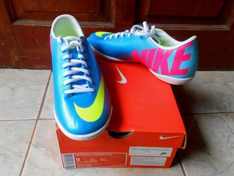 Nike Futsal Mercurial Victory IV Blue & Nike BOMBA Orange Black BNIB Original