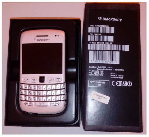 Dijual murah Blackberry Bold 9790 / Onyx 3 / Bellagio warna Ballet Pink