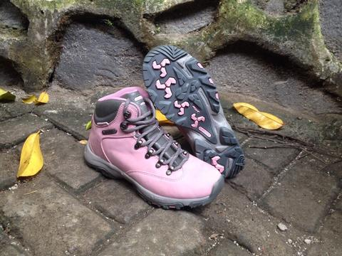 HITEC Trekking Boots Womens Pink Leather 38 original only 3xx...