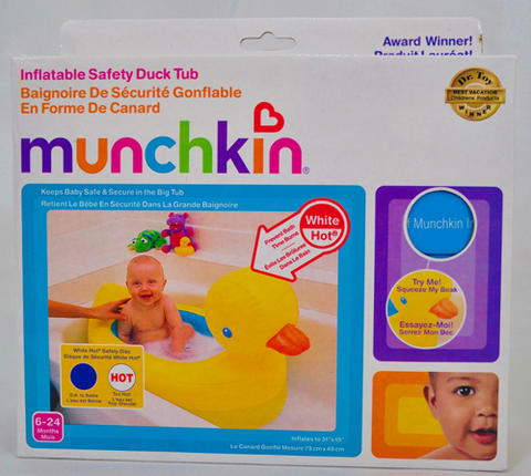 Munchkin Inflatable Safe Duck Tub
