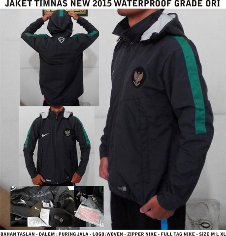 JAKET TIMNAS INDONESIA NEW 2015 WATERPROOF READYSTOCK