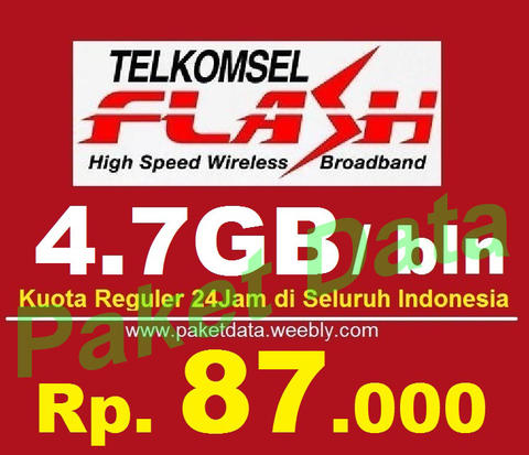 Inject Telkomsel Flash 3,5GB/bulan berlaku 24jam