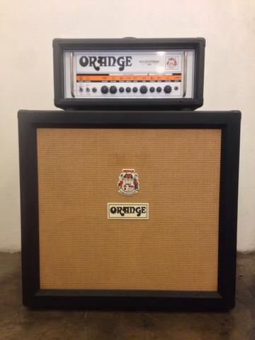 ORANGE ROCKERVERB 100 & ORANGE CABINET PPC 412 MADE IN ENGLAND MINT CONDITION