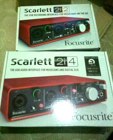 Focusrite Scarlet 2i2 dan 2i4 audiointerface