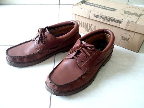 Terjual Sepatu Kulit IMPORT Leather Boat Shoes WEINBRENNER Model ... a6bd8700c4