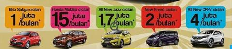 HONDA BRIO,MOBILIO,JAZZ,FREED,HRV,CRV,ACCORD CUCIGUDANG PERIODE APRIL 2015