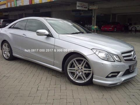 Mercy E350 Coupe AT 2009 Silver Km15rb Antiiiik