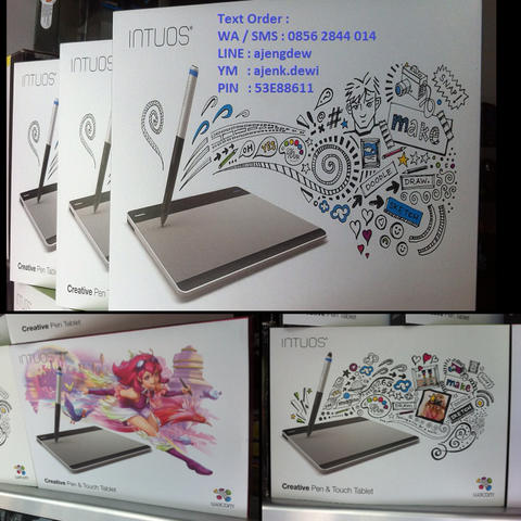 Wacom Intuos Pen Tablet Desain Grafis CTL480 - CTH 480 - CTH 480S - CTH 680