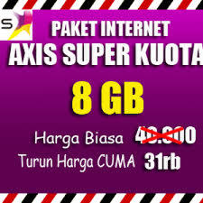 paket data internet axis 8gb termurah promo