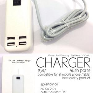 Charger Travel 4 Port / Charger Usb 4 Port / Charger Tablet / 15W USB