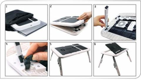 [stary] Meja Laptop Portable Plastik E-Table,A5 i Color,Kayu A8,Kayu A8 X-Gear MURAH!