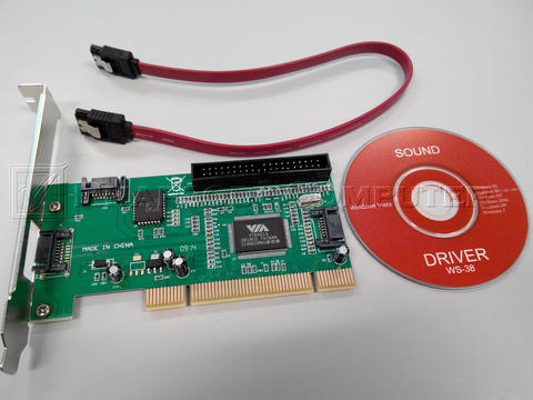 PCI 3 SATA Port + 1 IDE Port Card