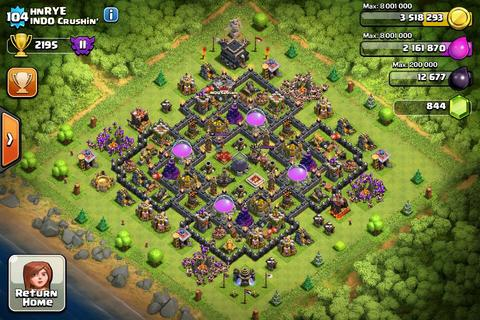 Jual ID COC th 9 max (ongoing), CLASH OF CLANS