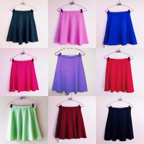 [stary] SUPPLIER FLARE SKIRT READY STOCK MURAH IDR 85.000 PJ 45 CM (KARET) WARNA BYK