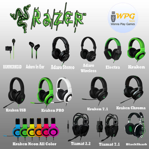 [WPGstore] Razer Gaming Audio (Aksesoris Komputer Headset)