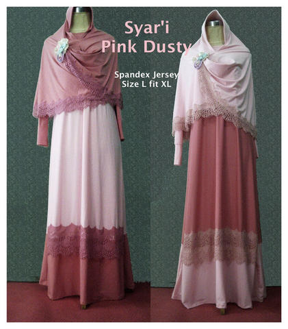 Syar'i pink dusty