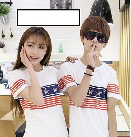 [AFA] READY STOCK Kaos Couple Sepasang Bintang,BlueStar,Dasi,Dress,Essence TERMURAH