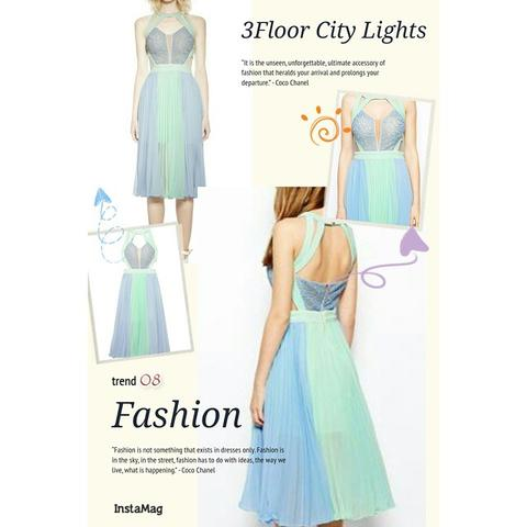THREE FLOOR CITY LIGHT DRESS