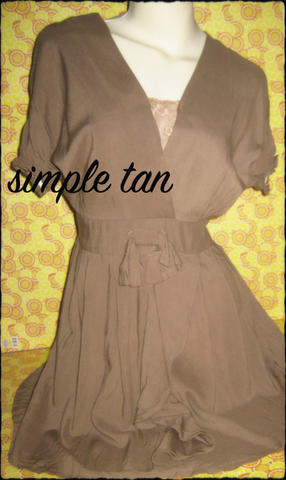 DRESS IMPORT SIMPLE TAN