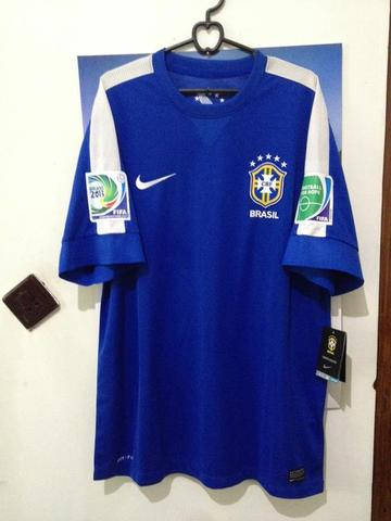 Jersey Away Brazil 2013 Full Patch Confederation Cup