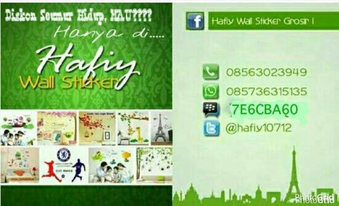 Promo Wall Sticker (Stiker Dinding)/Wallsticker Disc.10% All Item *RESELLER WELLCOME