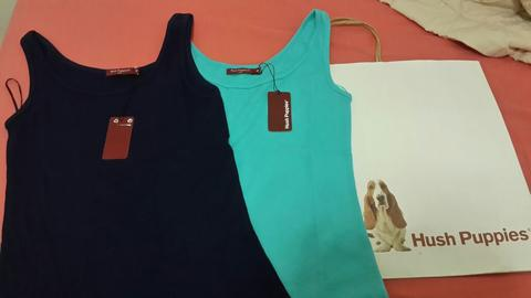 TANK TOP BARU, MURAH,MERK HUSH PUPPIES ONLY 2 PCS @100RB
