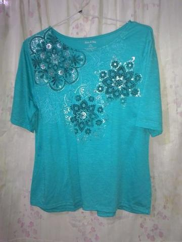 Blouse Biru Flower dan blouse orange flower