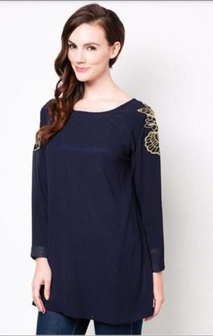Zalia Floral Embroided Tunic