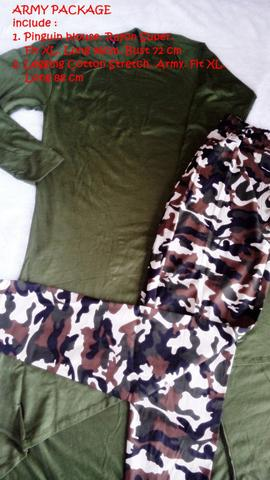 ARMY PACKAGE | PAKET PINGUIN BLOUSE & LEGGING COTTON ARMY