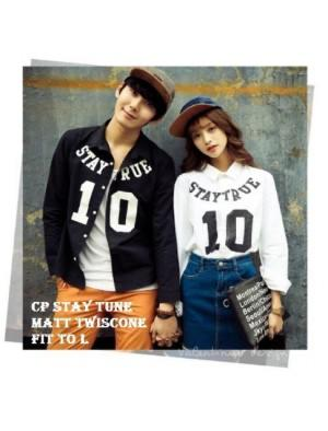 BAJU COUPLE | KEMEJA COUPLE STAY TRUE | supplierbajugrosir.com