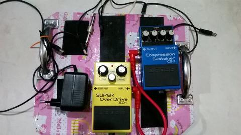 Epiphone Les Paul Gitar Guitar, Boss CS3 & Boss Overdrive SD 1, guitar effect