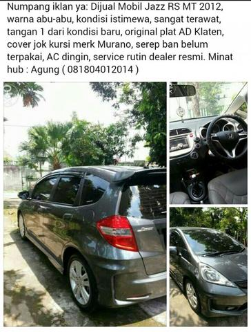 JAZZ RS MT 2012 SUPER ISTIMEWA TERAWAT