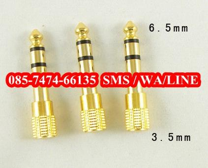 Audio Adaptor jack 6.3mm to Jack 3.5mm Gold Premium Quality jogja yogya
