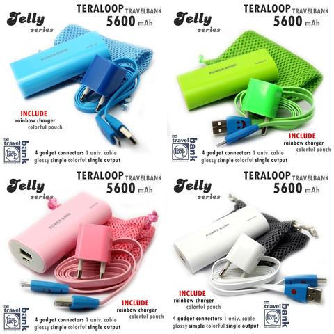 Powerbank Travelbank Teraloop Jelly Series 5600mAh