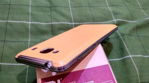 Back Case Leather Orange Redmi 2