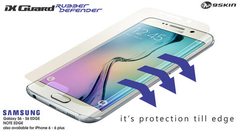 iX Guard Rubber Defender Antigores Layar S6 Edge, Note Edge, iPhone6, 9Skin 3M JAPAN