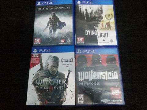 JUAL GAME PS4 WITCHER 3 (ASIA ENGLISH)!!!, WOLFENSTEIN, DYING LIGHT, MORDOR