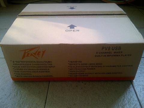 Jual Mixer PEAVEY PV8-USB,8 Channel,New,Made China.