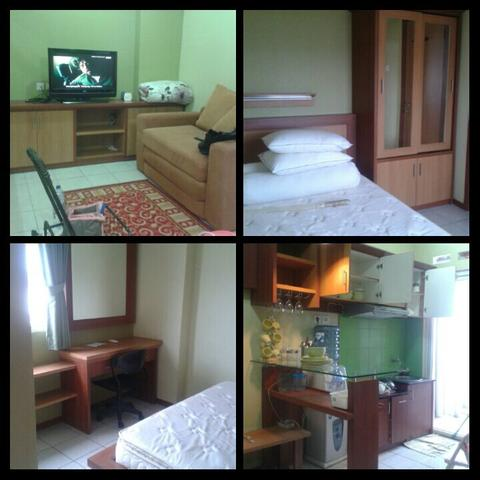 UP FOR RENT: 1 UNIT GREEN PRAMUKA FULL FURNISHED 33m2. MURAH, JAMIN NGGA NYESEL!