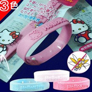 Gelang Anti Nyamuk Hello Kitty SILIKON TEBAL AWET GROSIR MURAH UNIK
