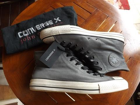 JUAL CONVERSE JOHN VARVATOS CT ALLSTAR DOUBLE MID GREY LEATHER