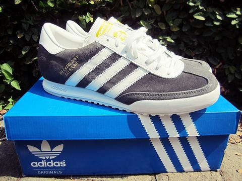 adidas beckenbauer allround grey suede and blue bird size complete ask me for size