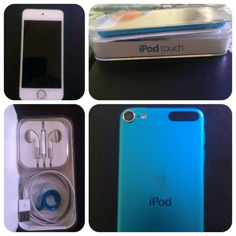 Apple iPod Touch biru (iTouch) 5 Gen 32 GB blue Ex Cewek (Not iPhone, iPad, Android )